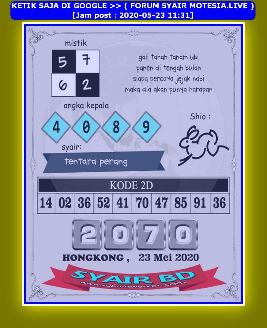 Kode syair Hongkong Sabtu 23 Mei 2020 238