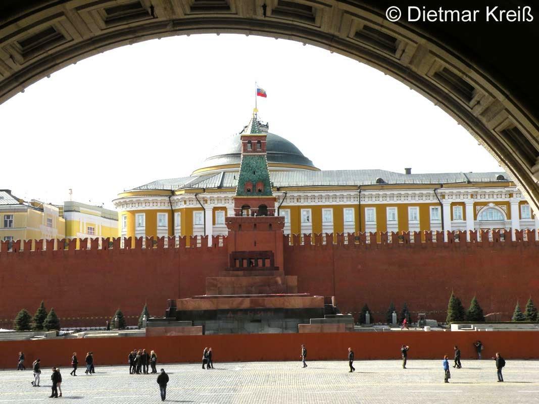 Lenin Mausoleum an der Kremlmauer Moskau, Kreml Mauer Moskau