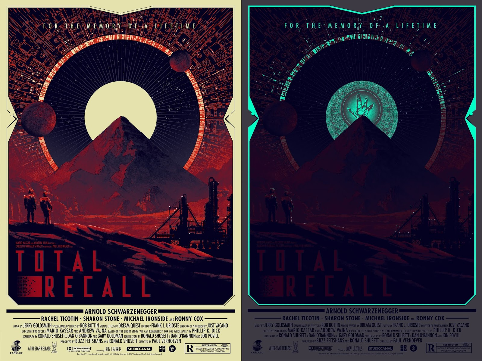 the blot says total recall movie poster screen print