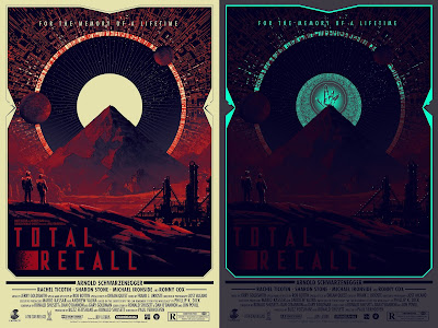 Total Recall Glow in the Dark Regular Edition Movie Poster Screen Print by Matt Ferguson x Grey Matter Art