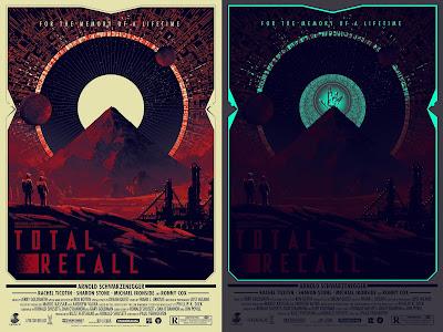 Total Recall Glow in the Dark Regular Edition Movie Poster Screen Print by Matt Ferguson x Grey Matter Art