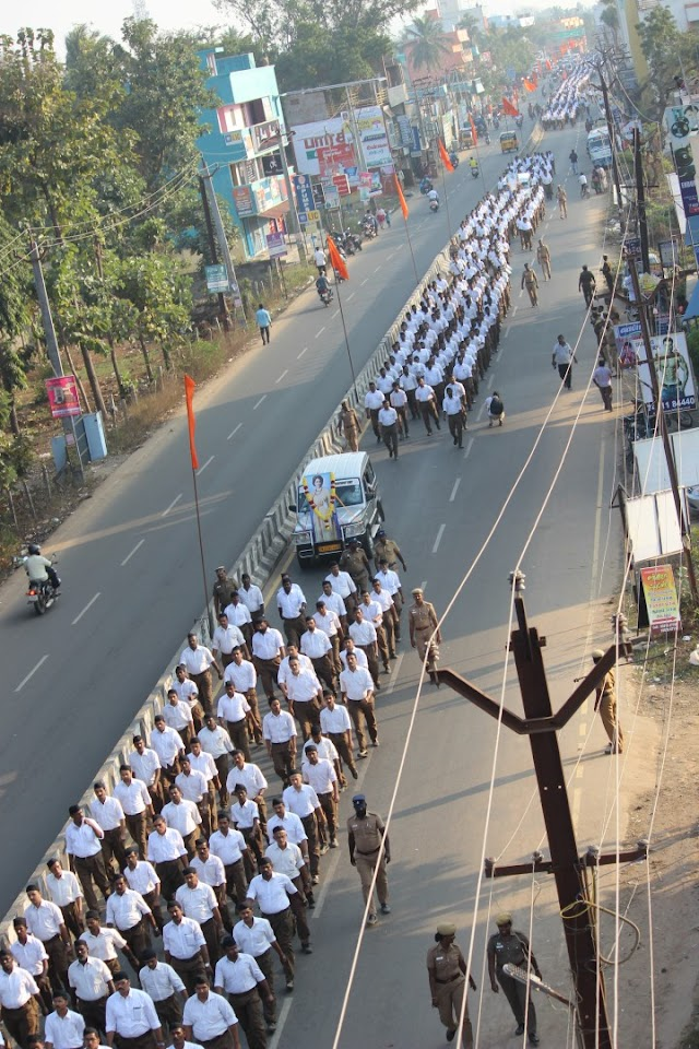 Annual RSS Route March held in Tamilnadu