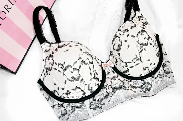 Katherine Penney Chic Shopping VS PINK Haul Bra Treat Pretty Lace