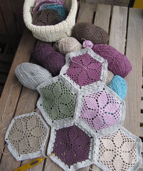 Granny's Garden Hexagon - Free Pattern
