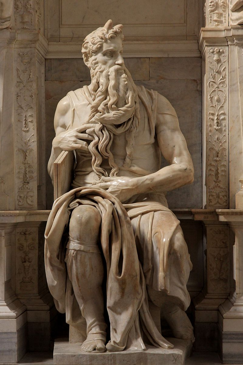 Moses by Michelangelo Pope Julius II Tomb (1505-1545)