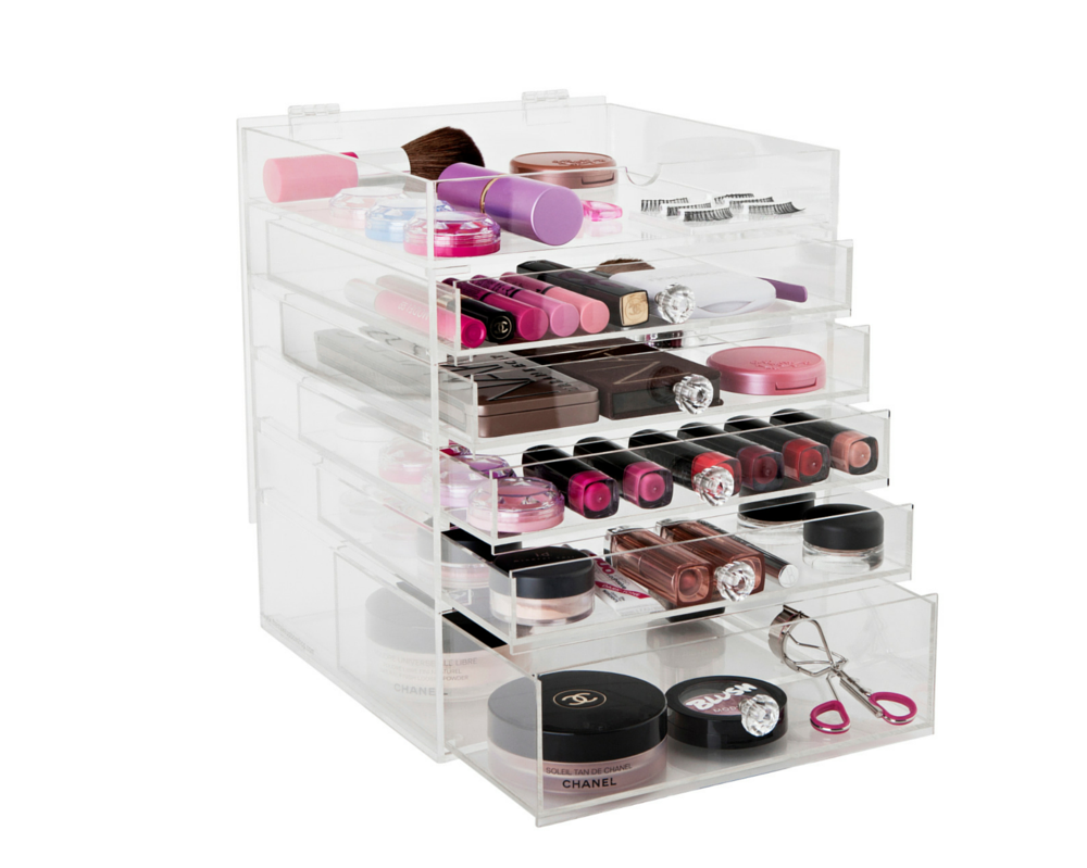 l i v i a my new makeup storage organizer feat the flip top glamour box as seen on the. Black Bedroom Furniture Sets. Home Design Ideas