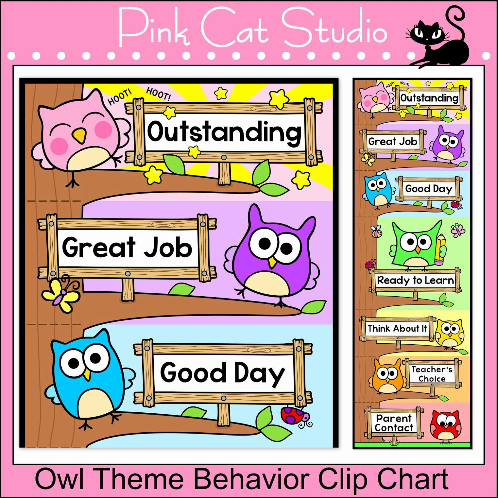 http://www.teacherspayteachers.com/Product/Owl-Theme-Behavior-Clip-Chart-Editable-Back-to-School-Decor-782770