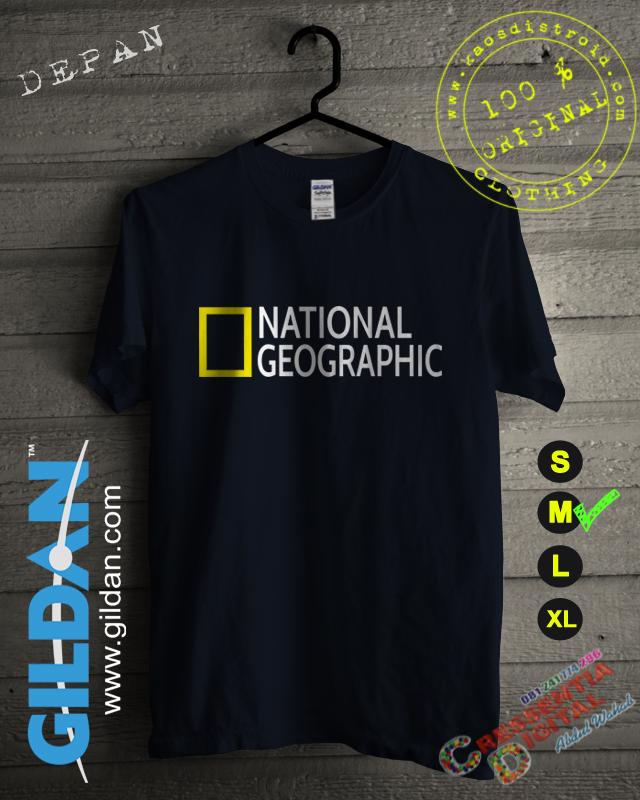 Baju Kaos National Geographic Warna Biru Navy