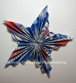 front of pleated star shape
