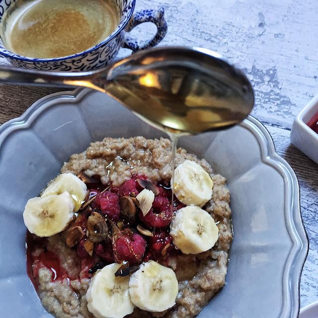 Coconut Cream Porridge & Raspberry Compote Recipe The Small Town Girl