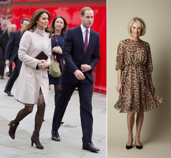 CATHERİNE,DUCHESS OF CAMBRİDGE  İN MAX MARA  STUDIO  DRESS