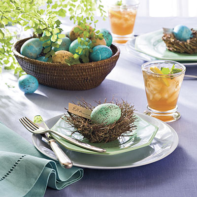pretty-easter-table-setting-decor-eggs-cute-stylish-nest-with-egg-cute ...