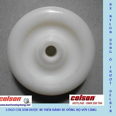 Bánh xe đẩy tải trọng 100kg đến 136kg nhựa PA càng inox Colson banhxepu.net