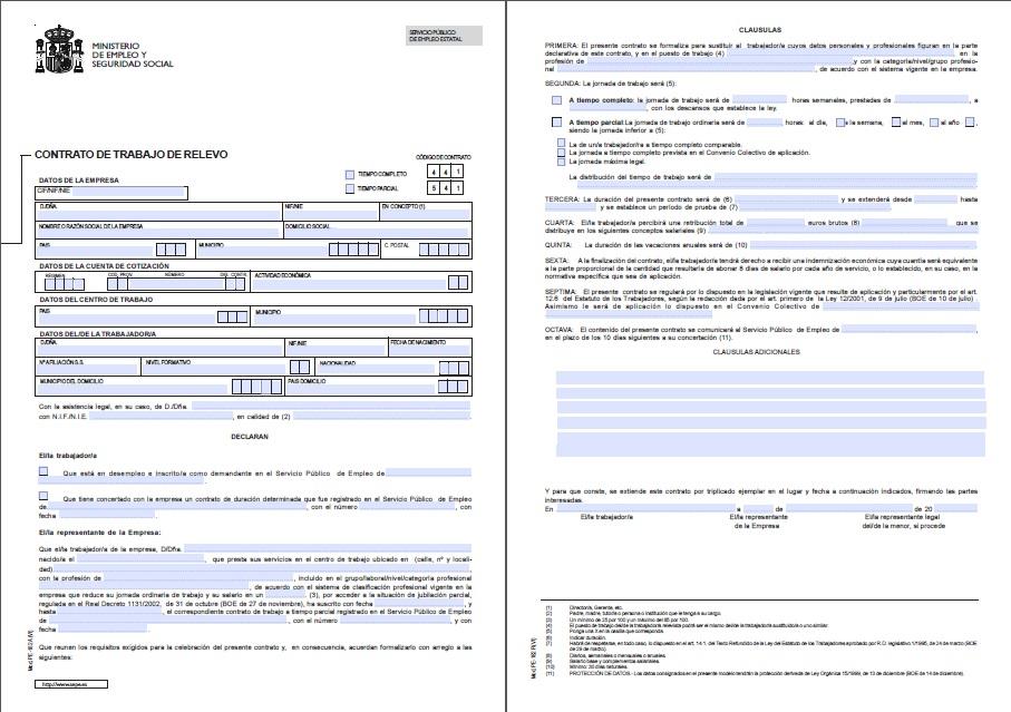 Econ micamente contratos de trabajo el for Contrato indefinido ejemplo