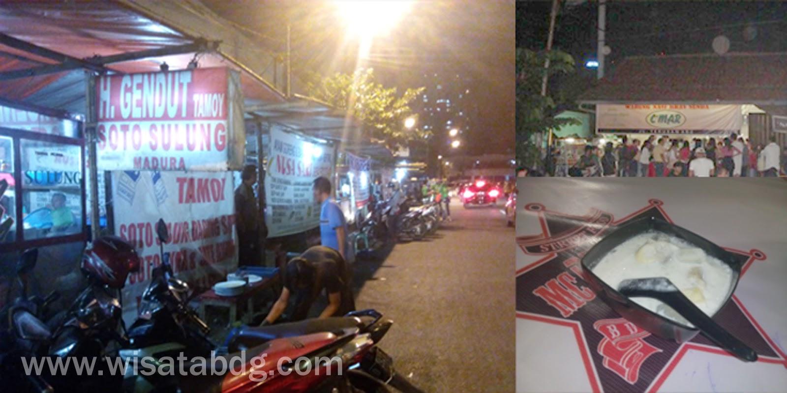 Wisata Kuliner Malam di Jalan Cikapundung, Bandung