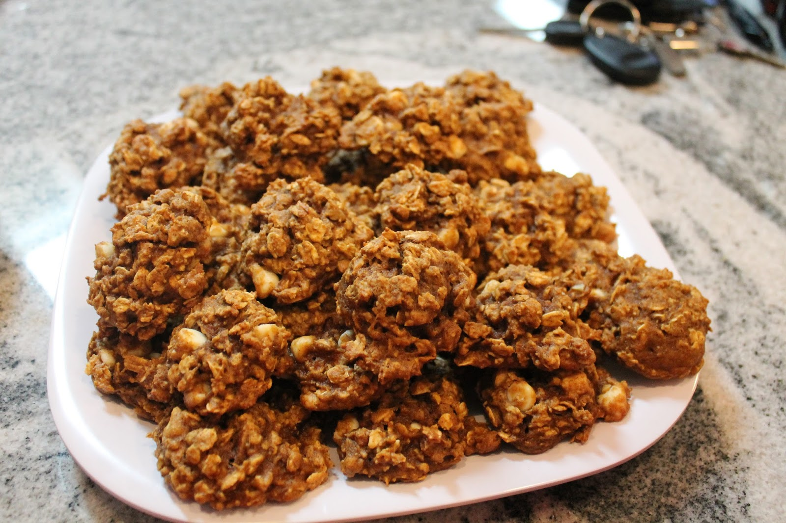 ... with the Grobmyers: White Chocolate Pumpkin Pecan Oatmeal Cookies