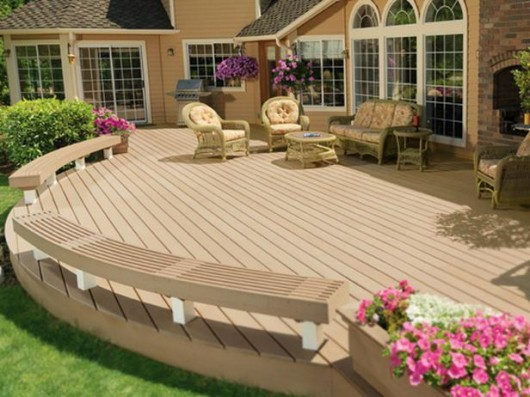Amazing Beautifuly Wood Deck Designs Ideas | Interior ... on Timber Patio Designs id=77262