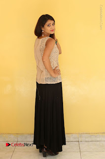 Tollywood Upcoming Actress Arthi Stills in Black Skirt at Plus 1 Movie Trailer Launch  0139.JPG