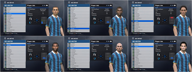 Classic Players FacePack For PES 2017 by marebatigol