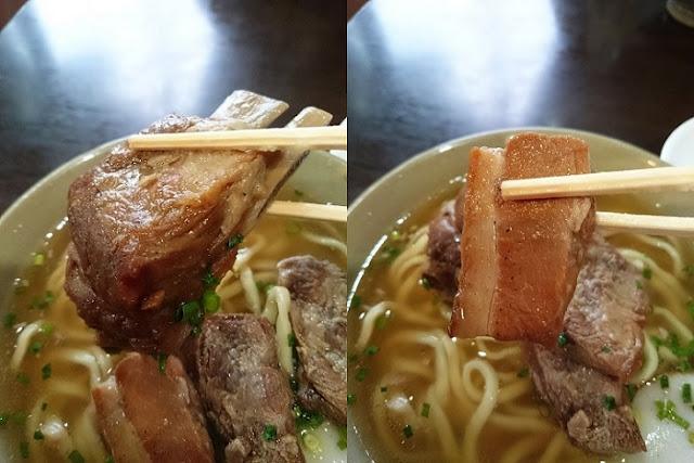 本ソーキと三枚肉の写真