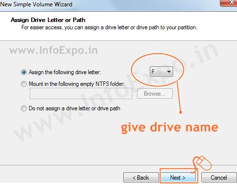 www.infoexpo.in --Create a new drive in windows