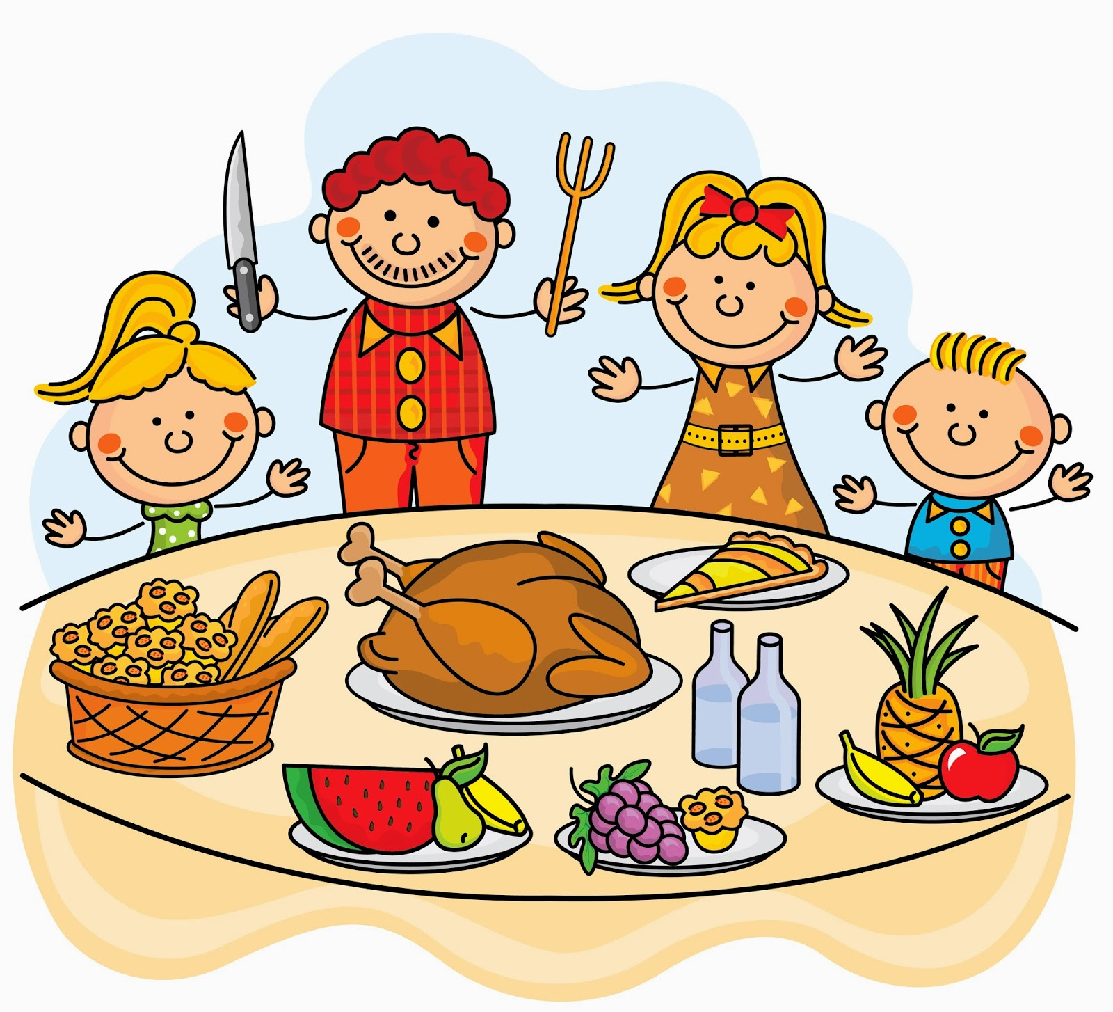 clipart family dinner table - photo #19