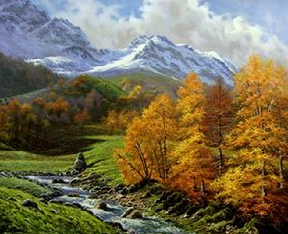 Imágenes Arte Pinturas: Paisajes Hermosos Al Óleo