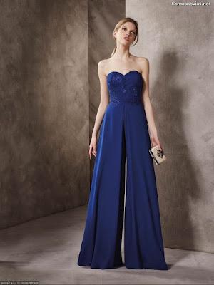 Vestidos de damas de honor color azul