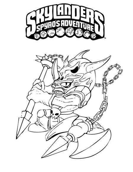 skylanders giants coloring pages ninjini skylander   Skylanders Spyro's Coloring Pages for Kids >> Disney ...
