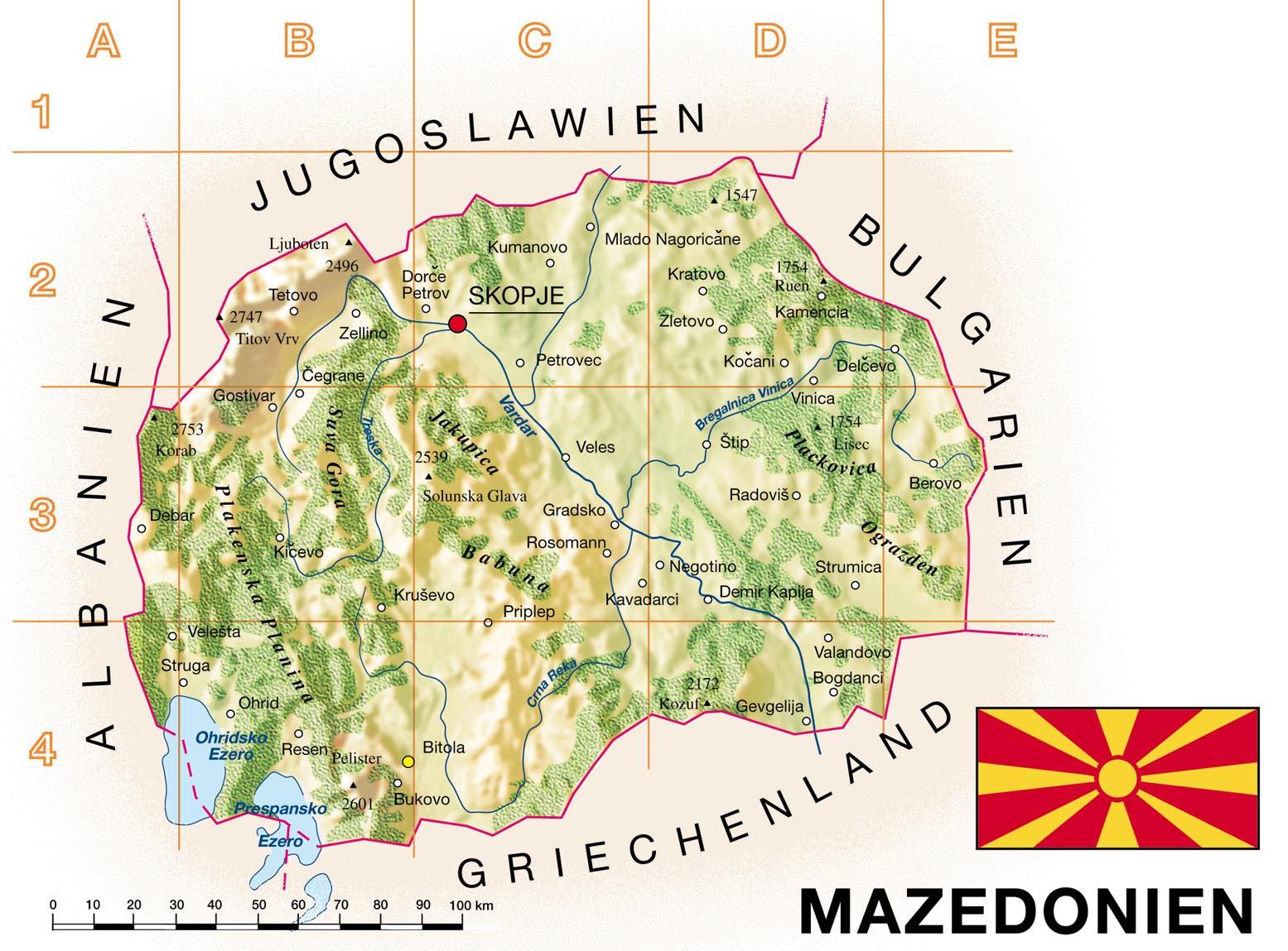 Macedônia | Mapas Geográficos da Macedônia
