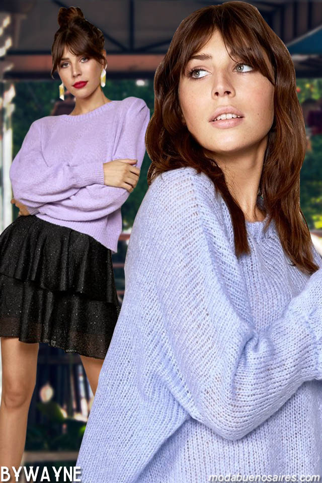 Moda invierno 2019 ropa de mujer. Moda tejidos invierno 2019.