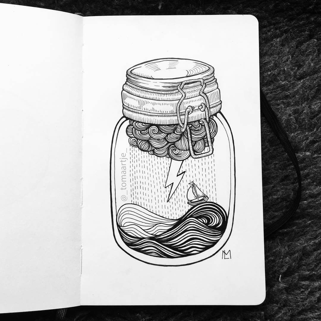 08-Storm-in-a-Jar-Maartje-Ink-Drawings-Mostly-Enclosed-www-designstack-co
