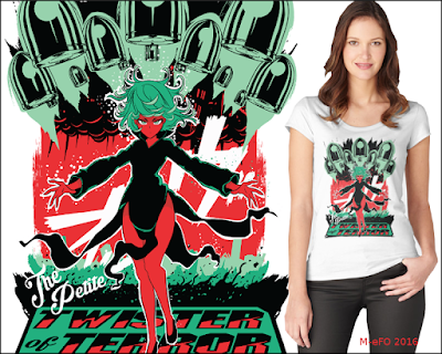 Tatsumaki+one punch man+shirt+woman+buy+redbubble