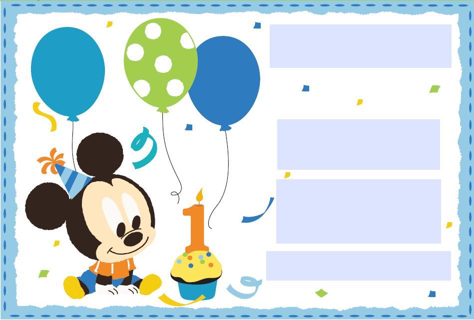 Tarjetas De Invitación De Bebé De Mickey Mouse Imagui