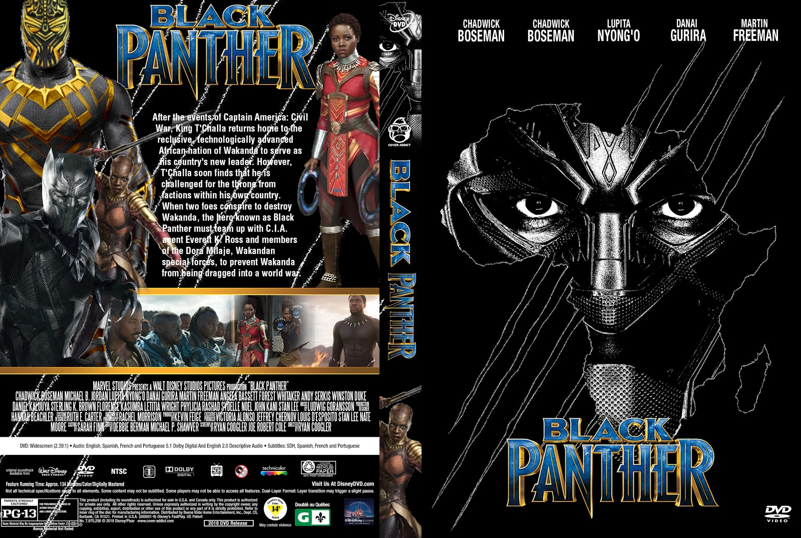 Black Panther Dvd Cover Cover Addict Free Dvd Bluray Covers And Movie Posters