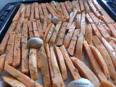 Słodkie ziemniaki z rozmarynem