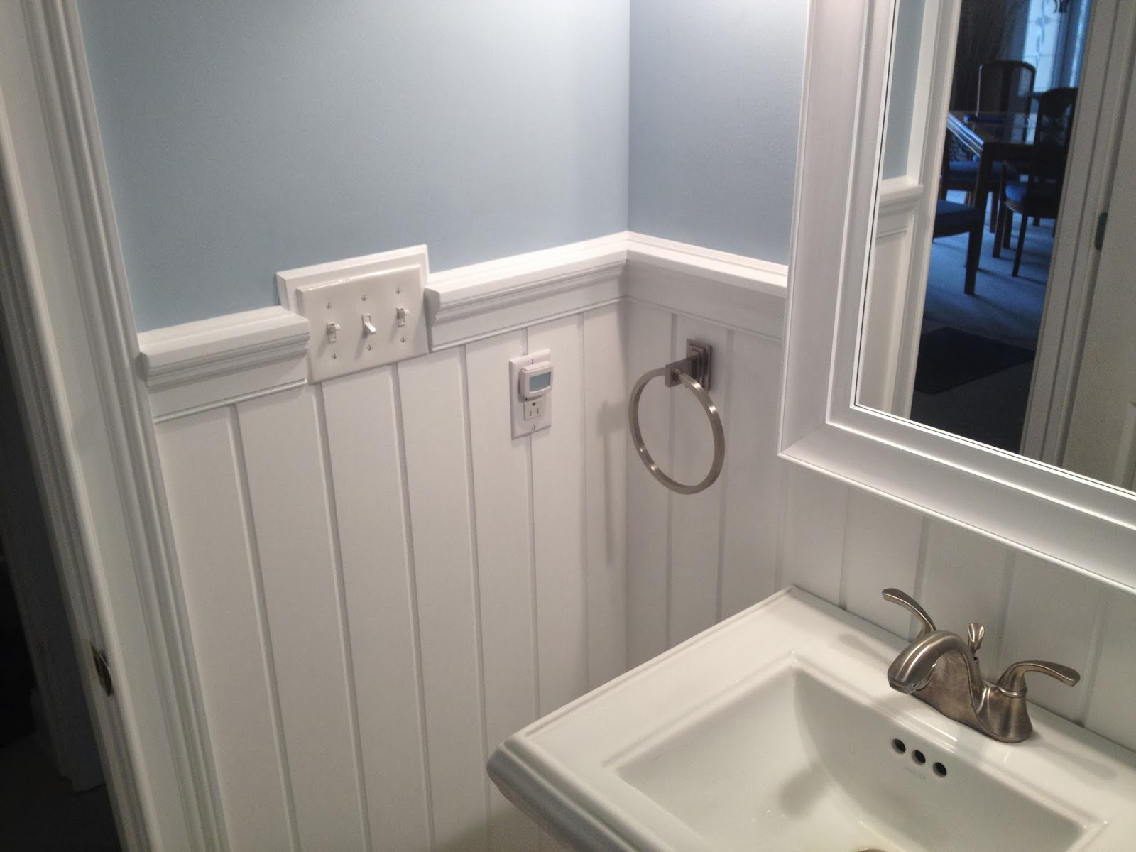 Pictures Of Chair Rails In Bathrooms Kitchen Step Stool Contemporary Bathroom Renovation Flawless Carpentry