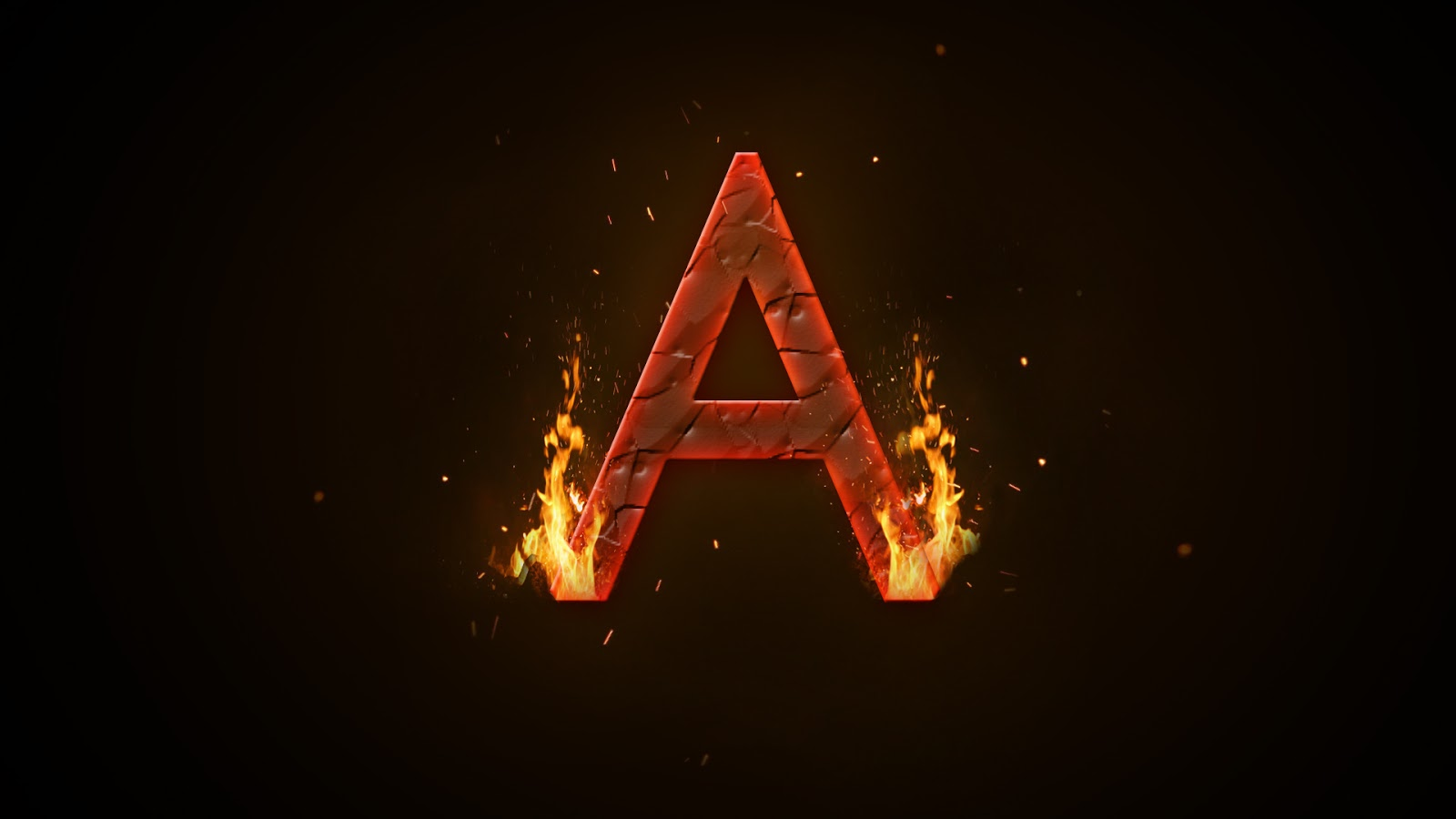 VD Studio: How to make Fire Letter 'A' || Photoshop Tutorial