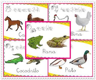 http://burbujadelenguaje.blogspot.com.es/2015/10/vocabulario-de-los-animales.html