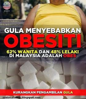 gula penyebab gemuk