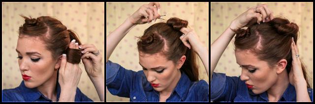 Fabulous The Freckled Fox Sweetheart Hair Week Tutorial 3 Rockabilly Rosie Short Hairstyles For Black Women Fulllsitofus