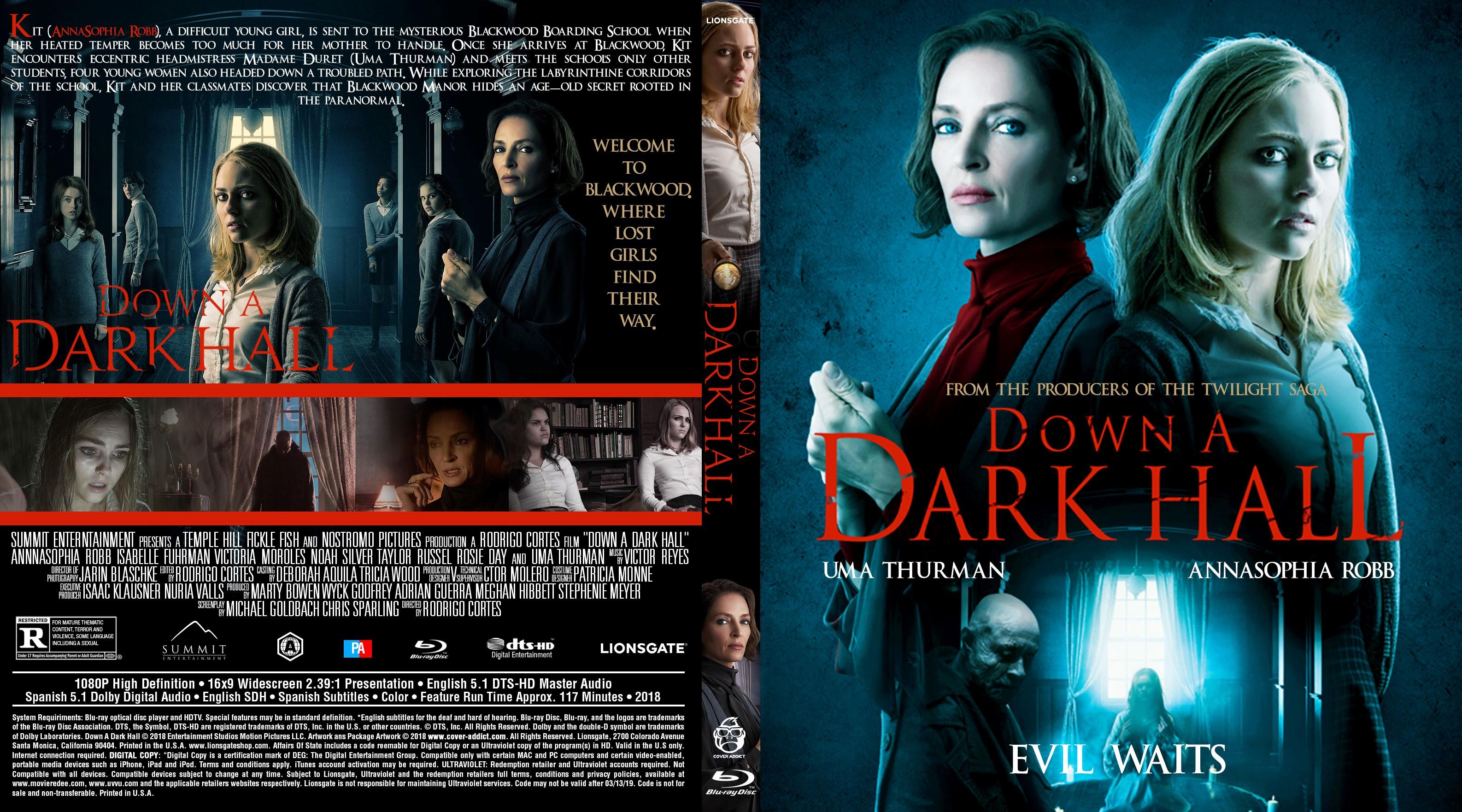 Down A Dark Hall Bluray Cover Cover Addict