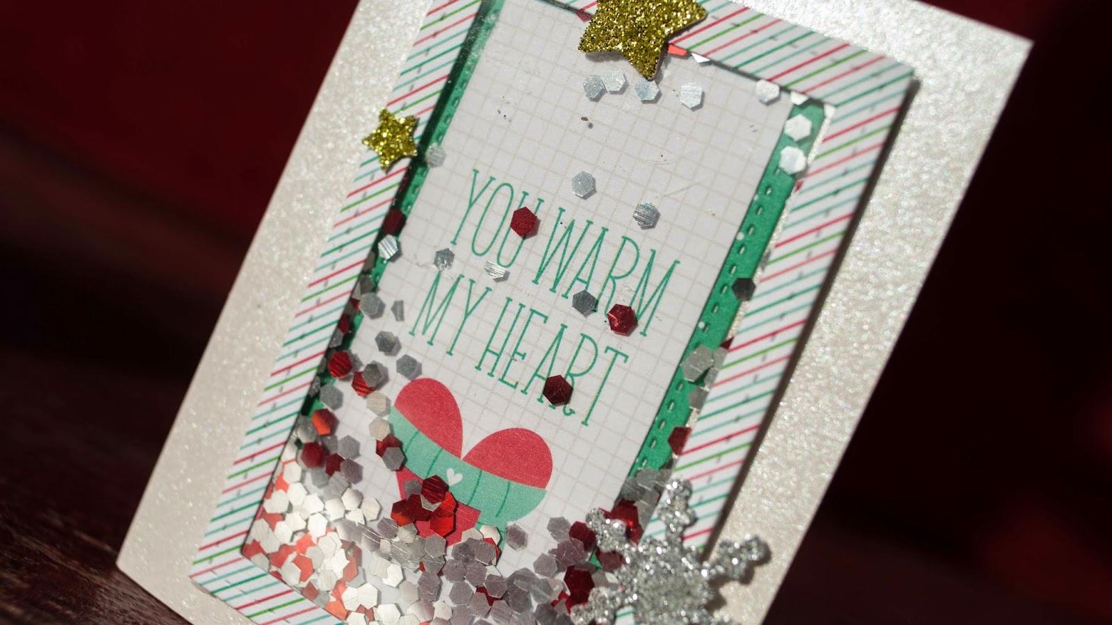 mini shaker cards christmas card serie 2014 stripe border