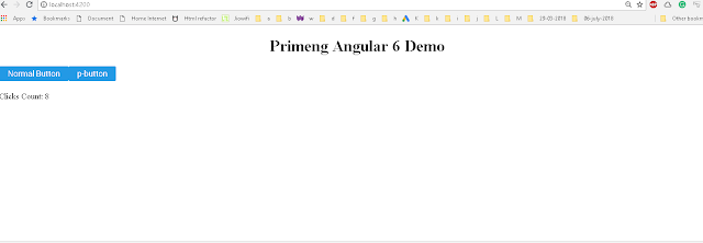 primeng Angular 6 application from scratch