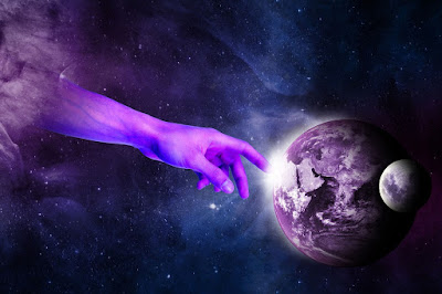 cosmos, universe, god, divine, magical, poetry, purple, ethereal