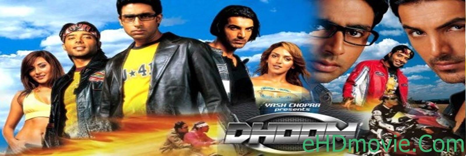 Dhoom 2004 Full Movie Hindi 720p - 480p ORG BRRip 550MB - 1.1GB ESubs Free Download