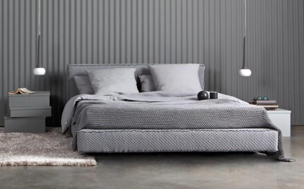 Dormitorios con paredes grises dormitorios colores y estilos - Dormitorio pared gris ...