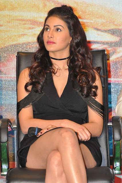 Amyra Dastur Hot Stills at Kung Fu Yoga Press Meet