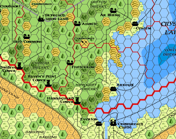 Mystara Alphatia Ar Hex Map