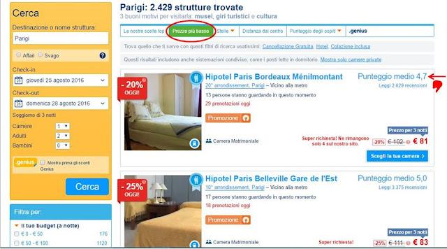 Viaggi low cost trovare l'alloggio booking.com